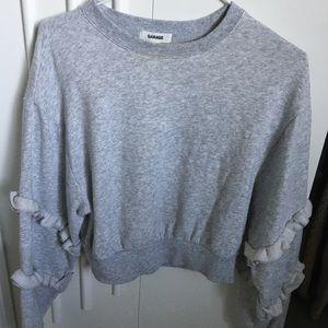 Gray cropped sweatshirt